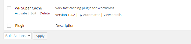 Activate worpress plugin