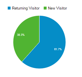 Google analytics users pie chart