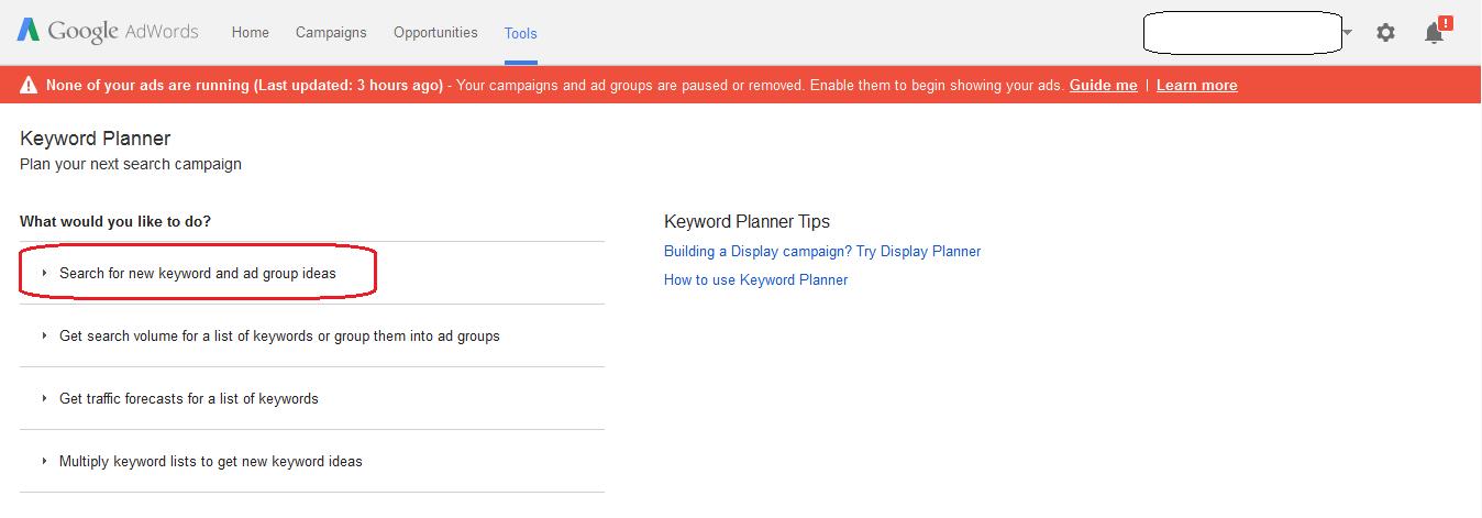 Google keyword tool 2