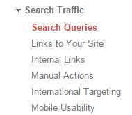 Google webmaster tool search traffic