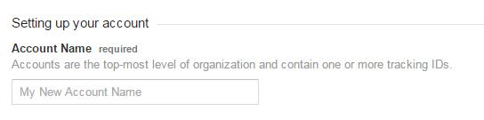 Google analytic account set up