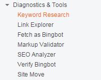 bing diagnostic and tools