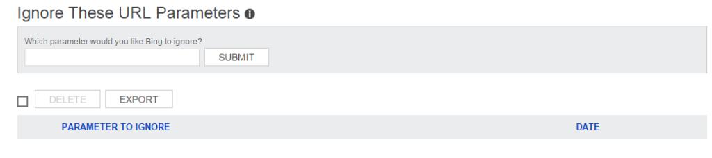 bing ignore url parameter