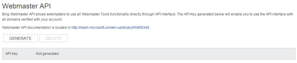webmaster API